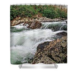 Shower Curtain featuring the photograph Little River  by Alan Raasch