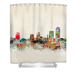 Shower Curtain featuring the painting Little Rock Arkansas by Bri B