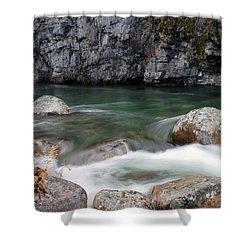 Little Susitna River Shower Curtain by Doug Lloyd