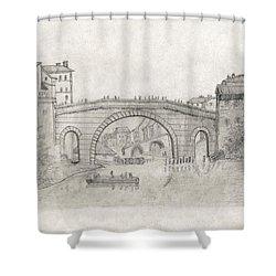 Liverpool Bridge Shower Curtain