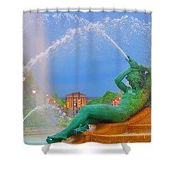 Logan Circle Fountain 1 Shower Curtain by Bill Cannon
