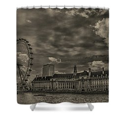 London Eye Shower Curtain by Martin Newman