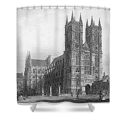 London: Westminster Abbey Shower Curtain by Granger