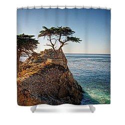 Lone Cypress Tree Shower Curtain by James Hammond