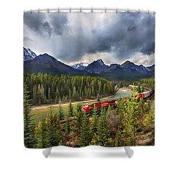 Long Train Running Shower Curtain