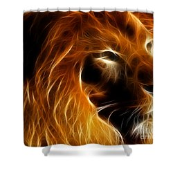 Lord Of The Jungle Shower Curtain by Wingsdomain Art and Photography