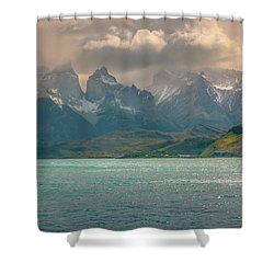Los Cuernos  Shower Curtain by Andrew Matwijec