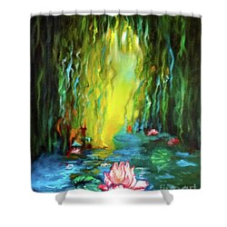 Lotus And Lily Pads Shower Curtain