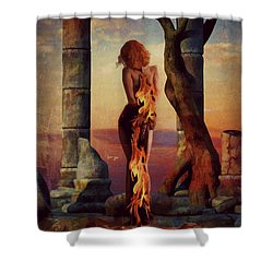 Shower Curtain featuring the digital art Love Hurts  by Riana Van Staden