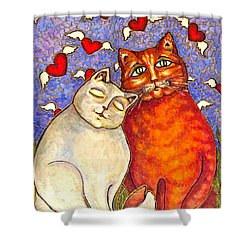 Love Is In The Air Shower Curtain by Rae Chichilnitsky