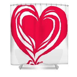 Shower Curtain featuring the digital art Love In Red by Mary Armstrong