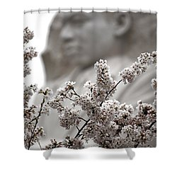 Shower Curtain featuring the photograph MLK by Mitch Cat