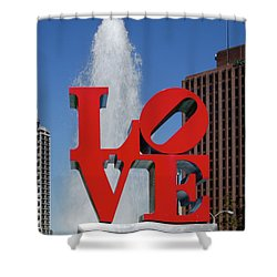 Shower Curtain featuring the photograph Love - Philadelphia by Bill Cannon