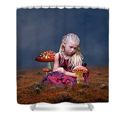 Shower Curtain featuring the mixed media Loving Life by Marvin Blaine