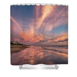 Shower Curtain featuring the photograph Low Tide Mirror by Debra and Dave Vanderlaan