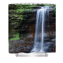 Lower Dells Falls Matthiessen State Park Oglesby Illinois Shower Curtain
