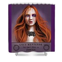 Lucy Westenra Shower Curtain by James Christopher Hill