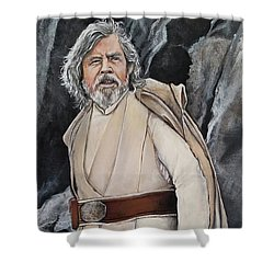 Luke Skywalker Shower Curtain by Tom Carlton