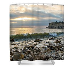 Lunada Bay Shower Curtain by Ed Clark