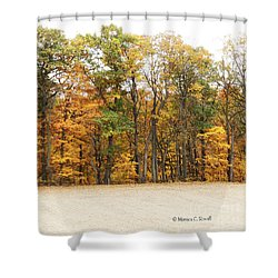 M Landscapes Fall Collection No. Lf64 Shower Curtain
