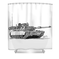 M1a1 Tank Shower Curtain