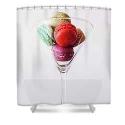Macarons Shower Curtain by Happy Home Artistry