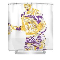 Magic Johnson Los Angeles Lakers Pixel Art 5 Shower Curtain
