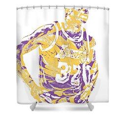 Magic Johnson Los Angeles Lakers Pixel Art 6 Shower Curtain