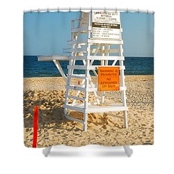 Main Beach East Hampton Shower Curtain by James Kirkikis