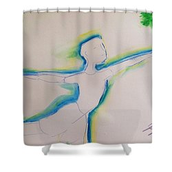 Male Dancer  Shower Curtain