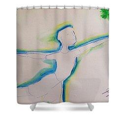 Male Dancer  Shower Curtain by Judith Desrosiers
