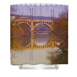 Manayunk Bridge Shower Curtain by Bill Cannon