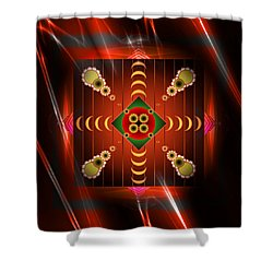 Shower Curtain featuring the digital art Mandala Burning by Mario Carini