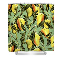 Mango Season Shower Curtain by Uma Gokhale
