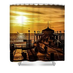 Pier Of Gold Shower Curtain