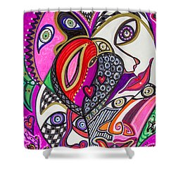 Many Faces Shower Curtain