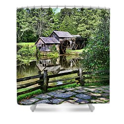 Marby Mill Pathway Shower Curtain by Paul Ward