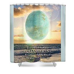 March Birthstone Aquamarine Shower Curtain