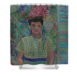 Shower Curtain featuring the painting Maria by John Keaton