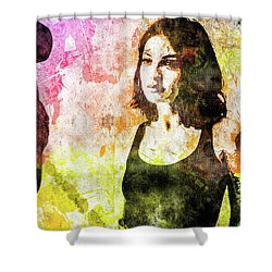 Maria Valverde Shower Curtain by Svelby Art