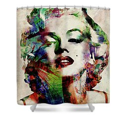Marilyn Shower Curtain by Michael Tompsett