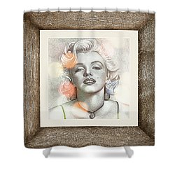Marilyn Monroe 01 Shower Curtain by Ericamaxine Price