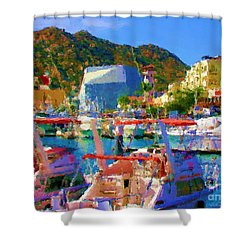 Marina Towards Pedregal Shower Curtain by Gerhardt Isringhaus