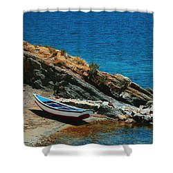Marooned Shower Curtain by Skip Hunt