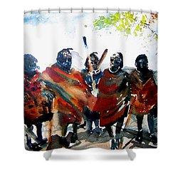 Masaai Boys Shower Curtain
