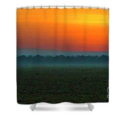 Shower Curtain featuring the photograph Masai Mara Sunrise by Karen Lewis