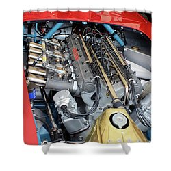 Maserati Engine Shower Curtain