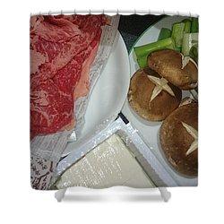 Materials Of The Sukiyaki Dish  Shower Curtain