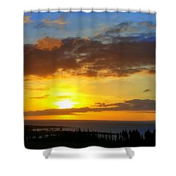 Maui Sunset At The Plantation House Shower Curtain