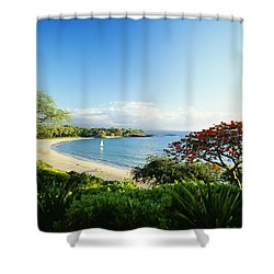 Mauna Kea Beach Shower Curtain by Peter French - Printscapes